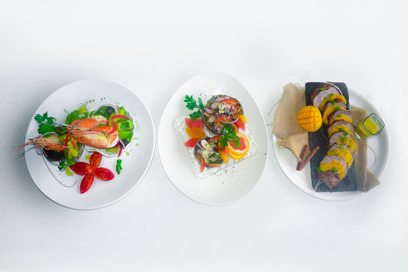 Three light and tropical starters for your holiday meals