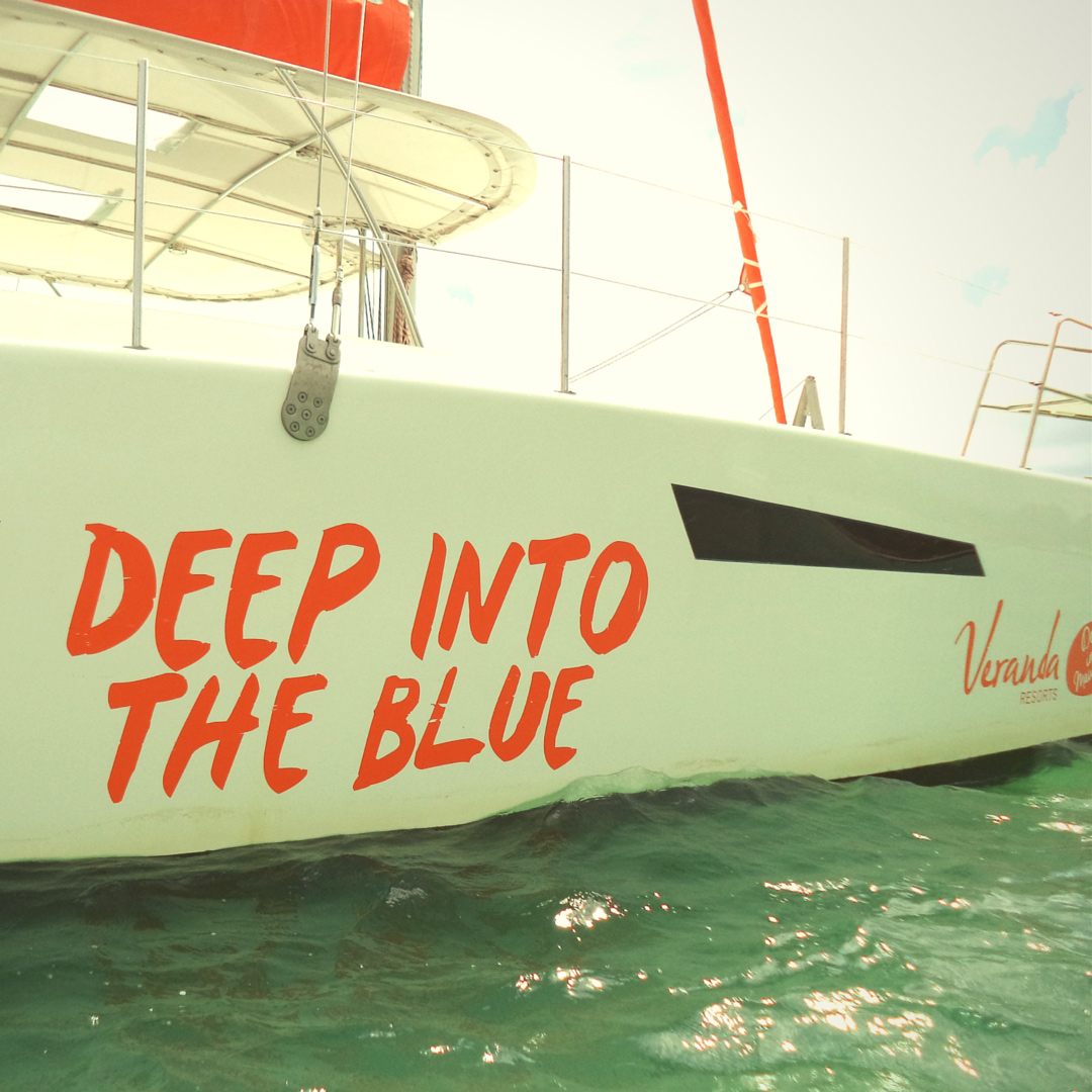 Deep into The Blue Catamaran