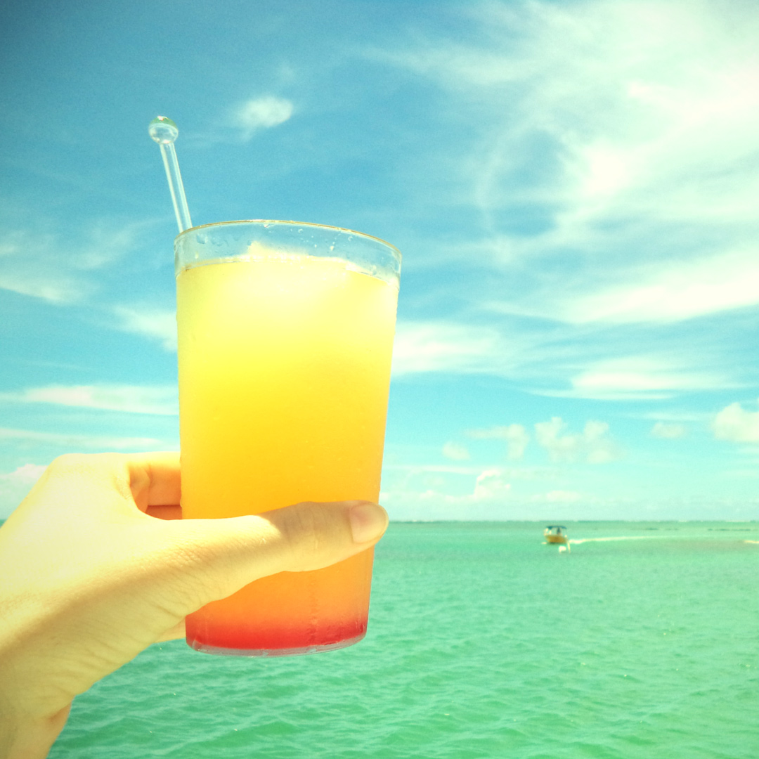 Mocktails on the catamaran