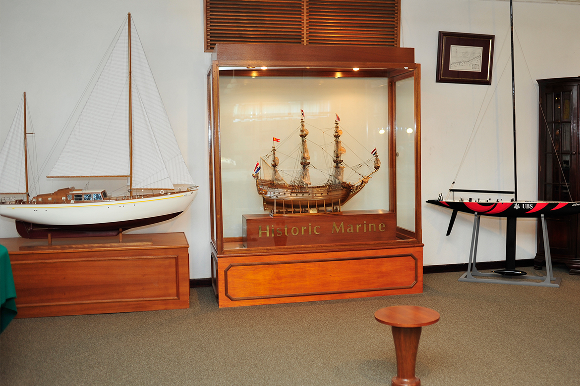 Collection of boat models
