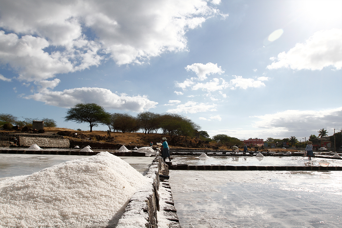 Salt making at the Salines - Tamarin