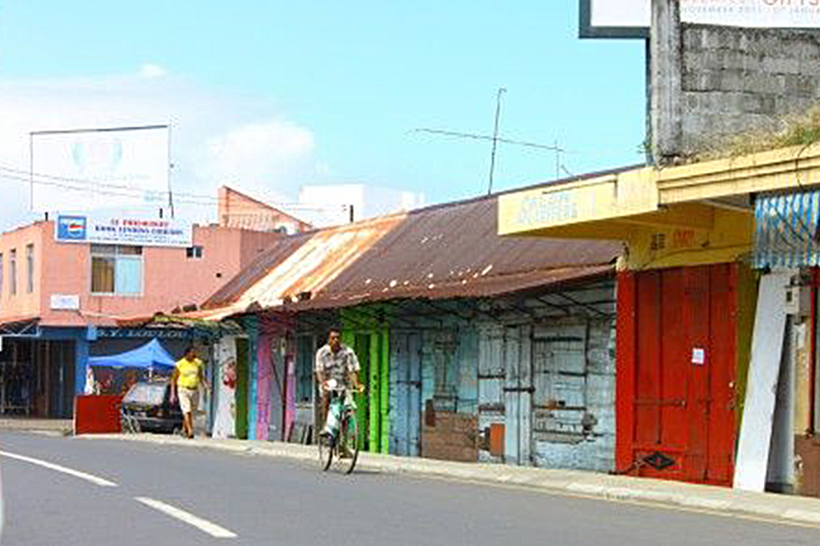 Old shops in Mauritius